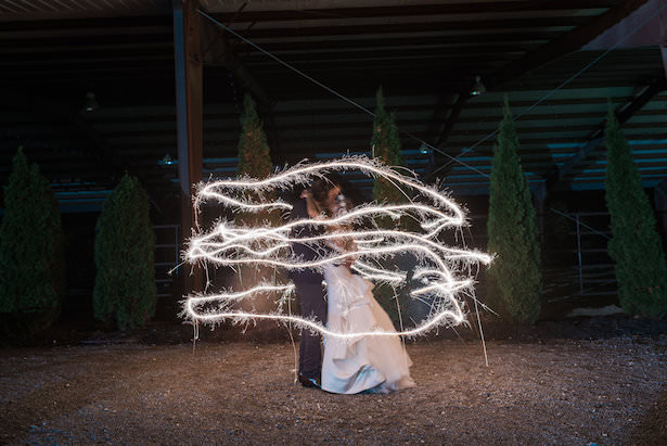 Wedding Photo with Sparklers - Juicebeats Photography