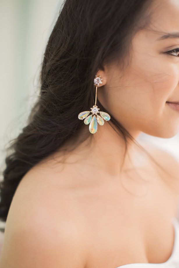 Wedding earrings - Brooke Images