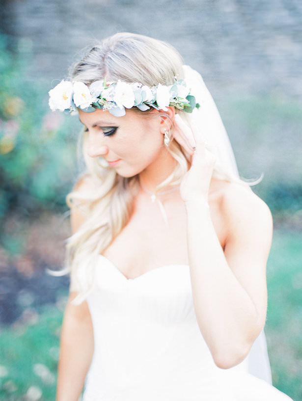 Wedding Floral Crown with Veil - Juicebeats Photography