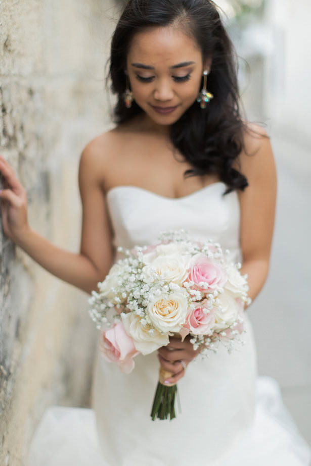 romantic wedding bouquet with roses - Brooke Images