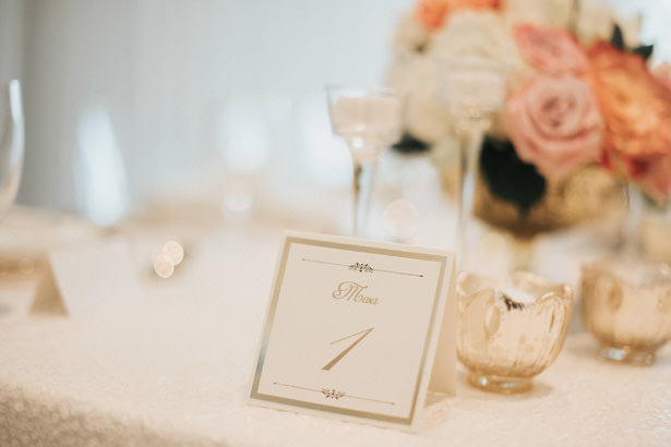 Gold Wedding Table Number - Photo: Pablo Díaz
