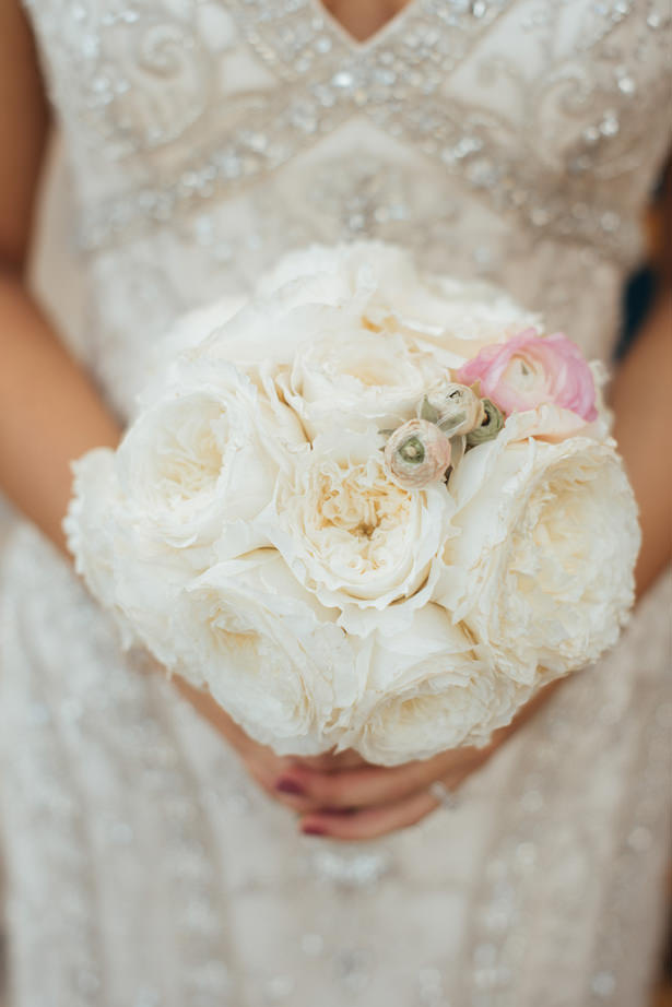 white garden rose bouquet - Photo: Pablo Díaz