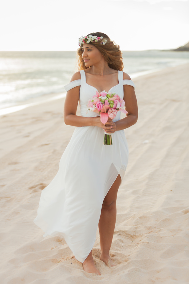 Beach wedding dress - Karma Hill Photography