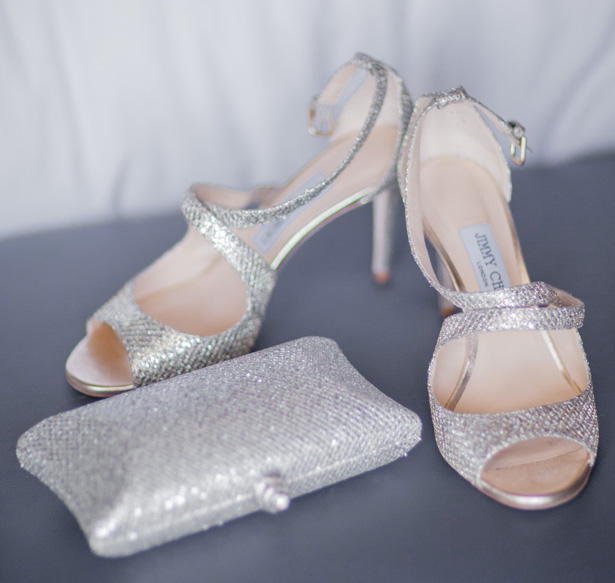 Blush Wedding Shoes - Clane Gessel Photography