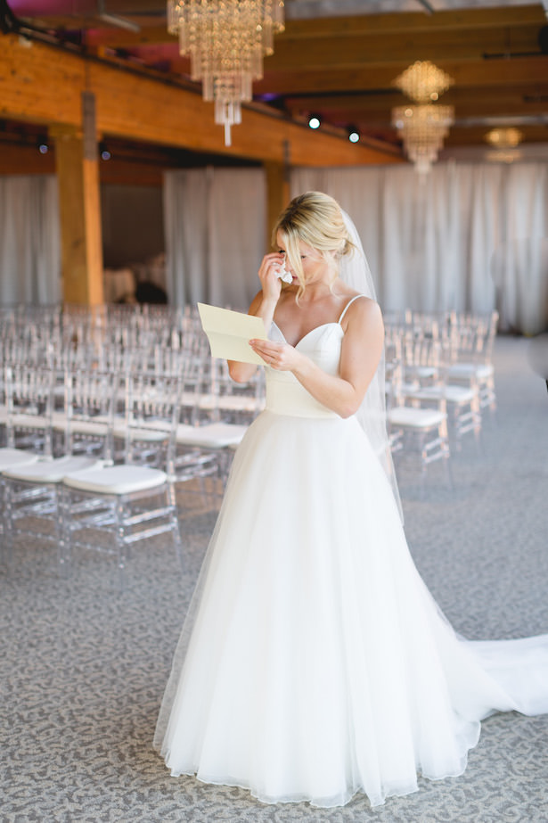Bride crying photo - Simple ballroom wedding dress - Photography: Rochelle Louise
