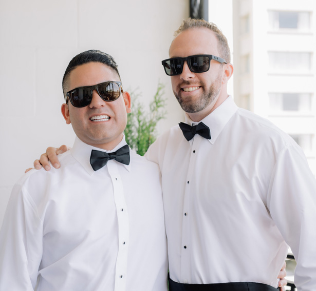 Groom and groomsman - Clane Gessel Photography