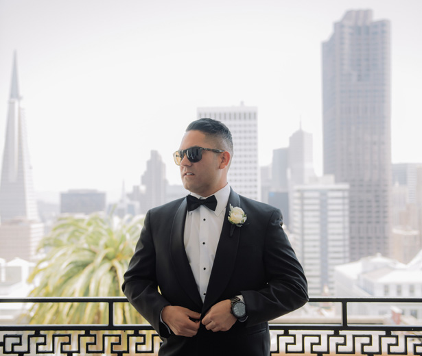 Grooms Classic Black Tux - Clane Gessel Photography
