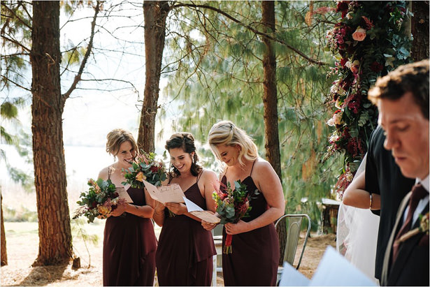Long burgundy Bridesmaid dresses - The Shank Tank