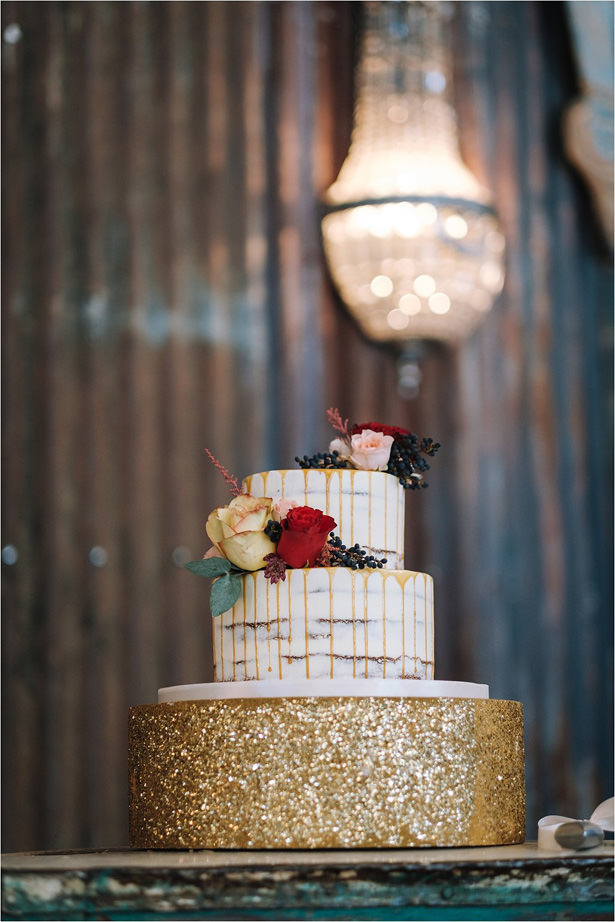 Modern Rustic Wedding Cake - The Shank Tank