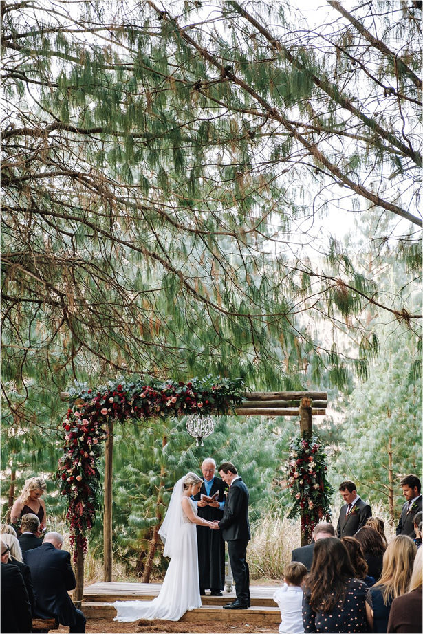 Outdoor rustic wedding ceremony - The Shank Tank