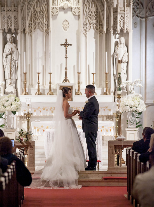 Romantic Church Wedding Ceremony - Clane Gessel Photography