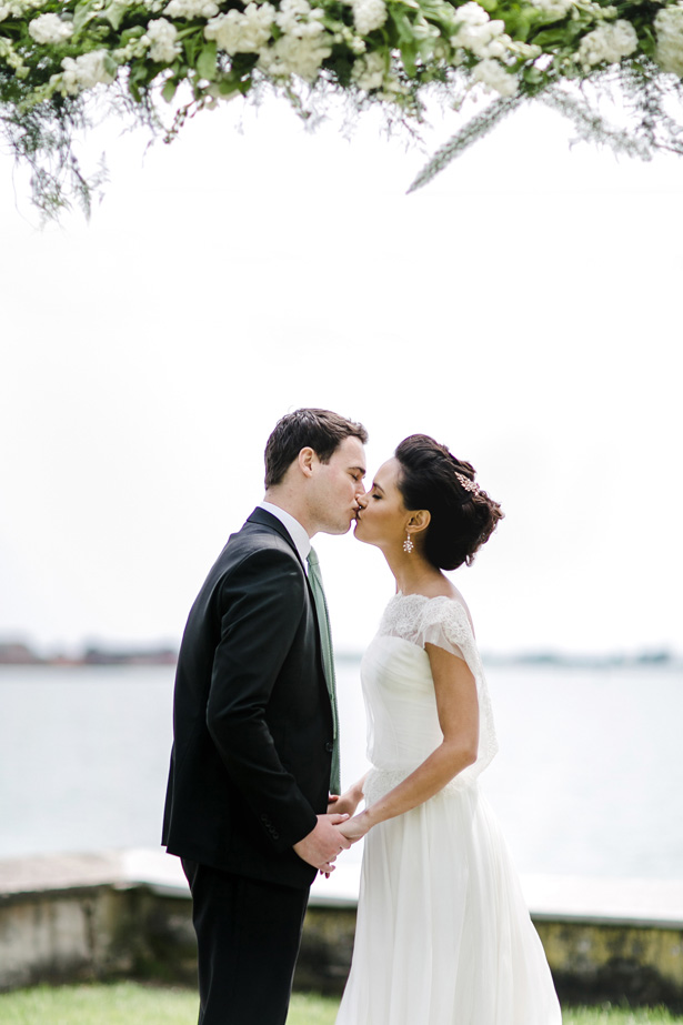 Romantic Wedding Kiss Photo - Nora Photography