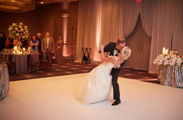 Romantic wedding photo - bride and groom first dance - Wasio Photography