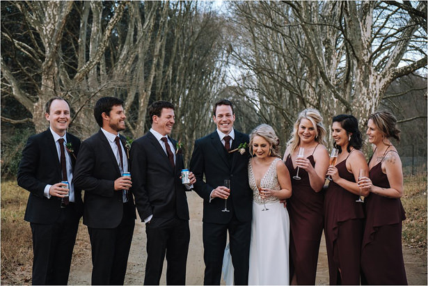 Rustic Wedding Party Photo - The Shank Tank