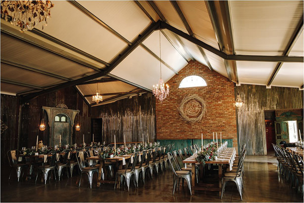 Rustic Wedding Reception Decor - The Shank Tank