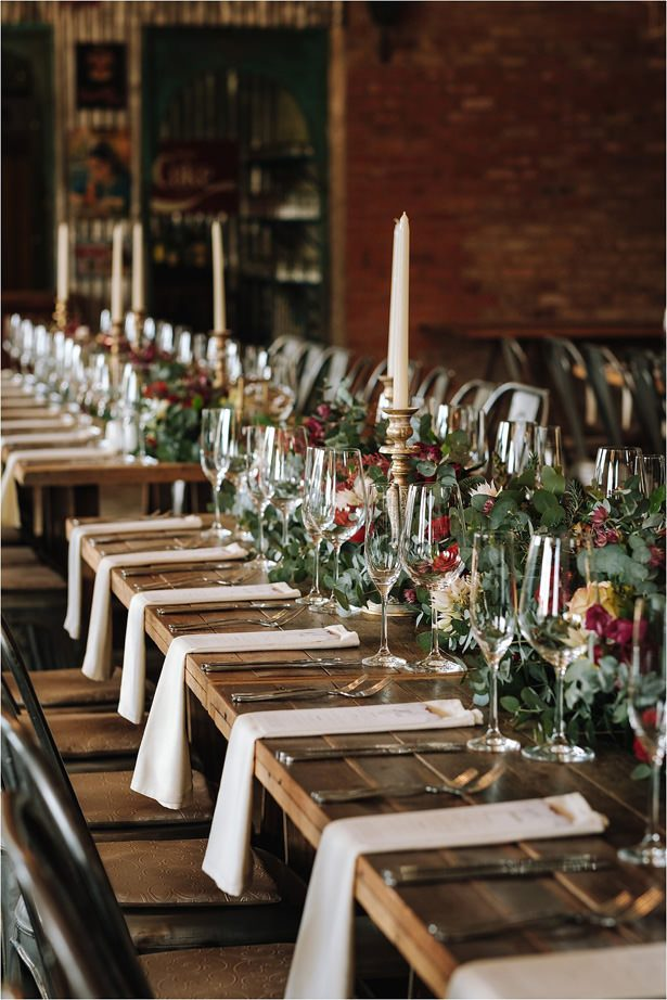 Rustic Wedding Table Decor - The Shank Tank