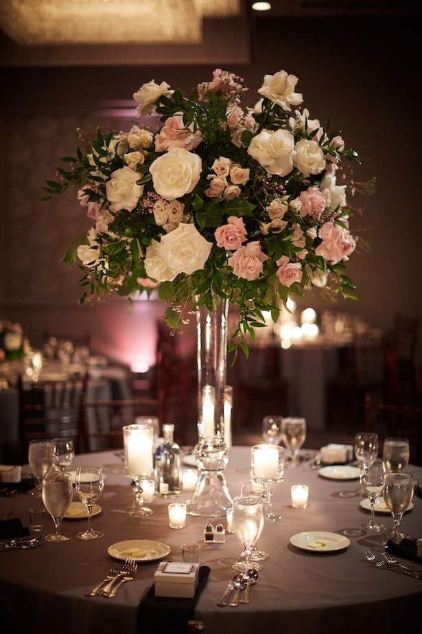 Tall wedding centerpiece - Wasio Photography