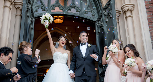 Wedding Exit Bubbles - Clane Gessel Photography