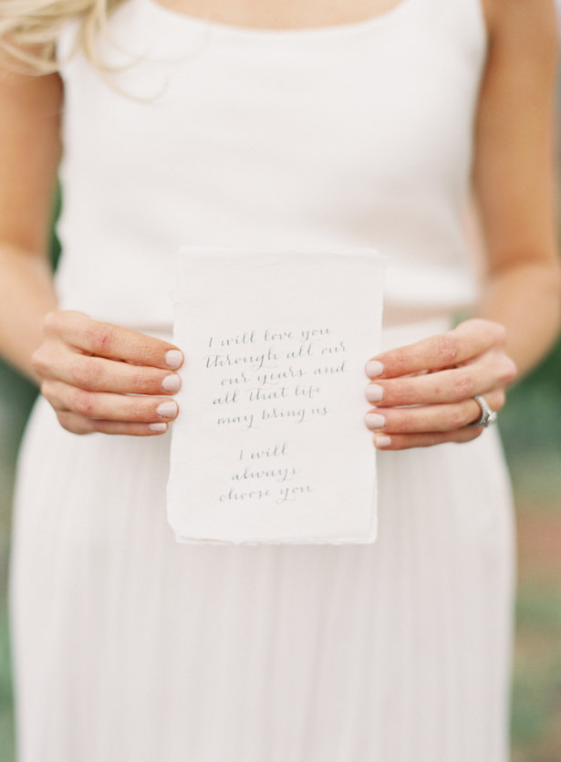 Wedding Vows - Emily Jane Photography
