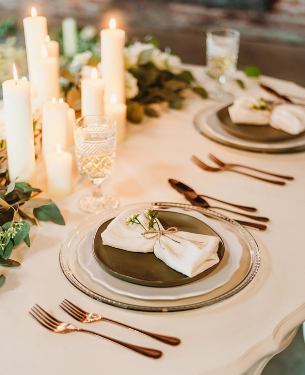White and Green Wedding Tablescape - Photography: Dewitt for Love LL
