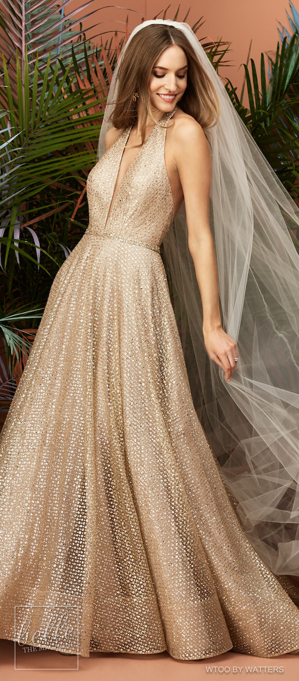 Wtoo by Watters Wedding Dress Collection Fall 2018 - Glitra Gold