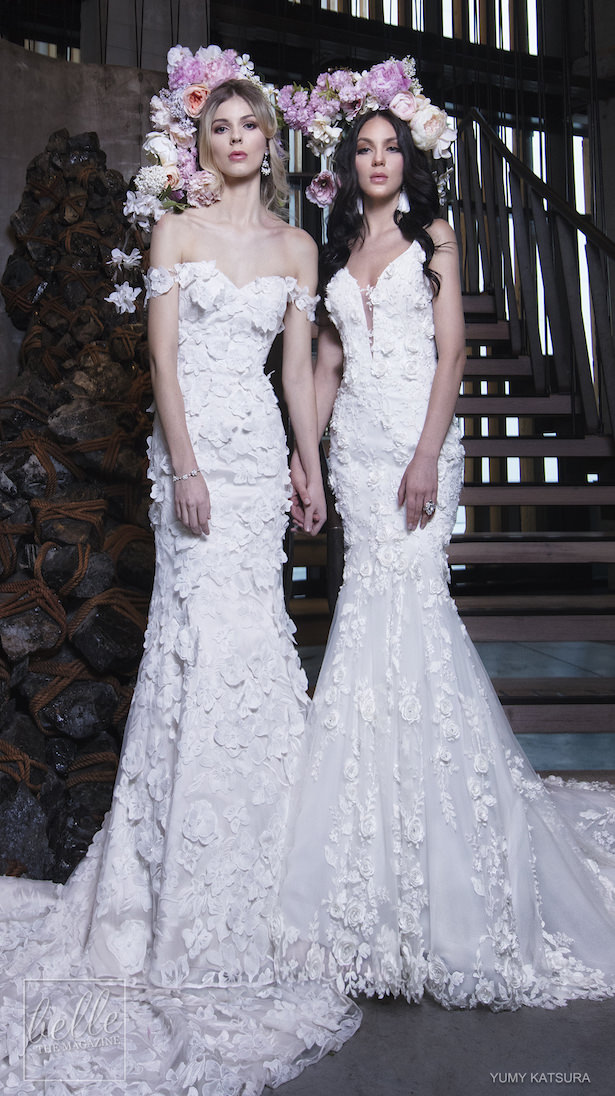 Yumi Katsura Spring 2019 Wedding Dresses Life Is A Garden Bridal Collection - GAUTIER AND HALO DUO