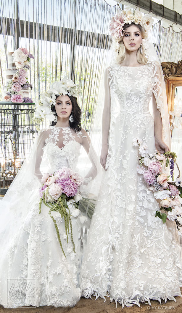 Yumi Katsura Spring 2019 Wedding Dresses Life Is A Garden Bridal Collection - HAVANA WITH HOPE CAPE AND HAYLEY DUO