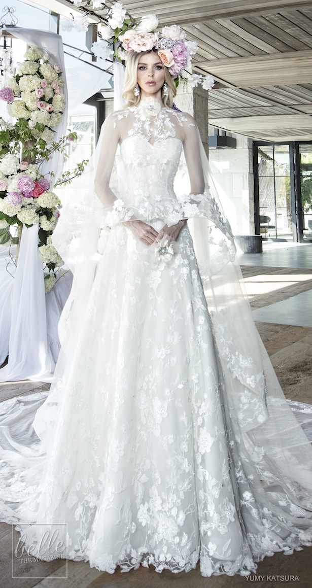 Yumi Katsura Spring 2019 Wedding Dresses Life Is A Garden Bridal Collection - HOPE WITH CAPE