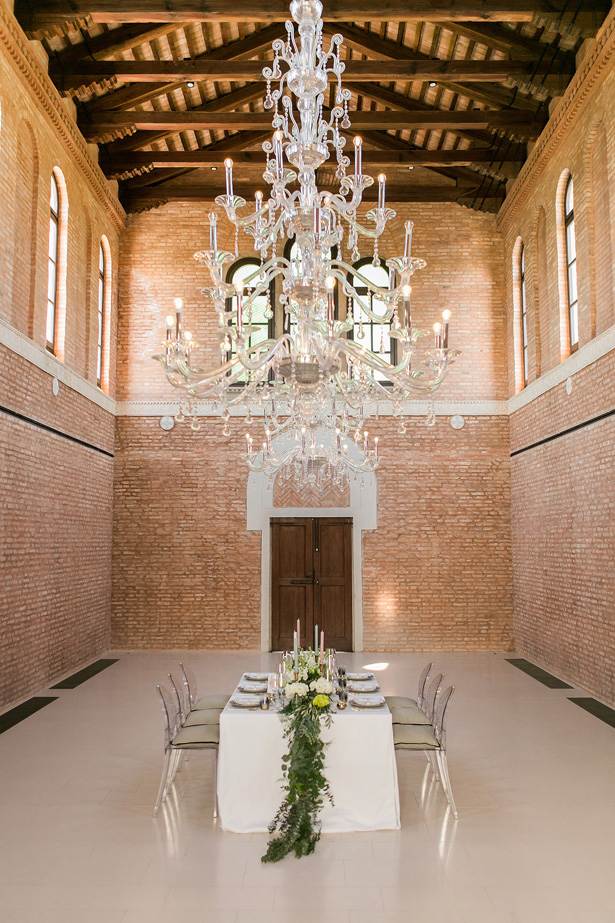 luxurious Wedding Tablscape and Chandelier - Nora Photography