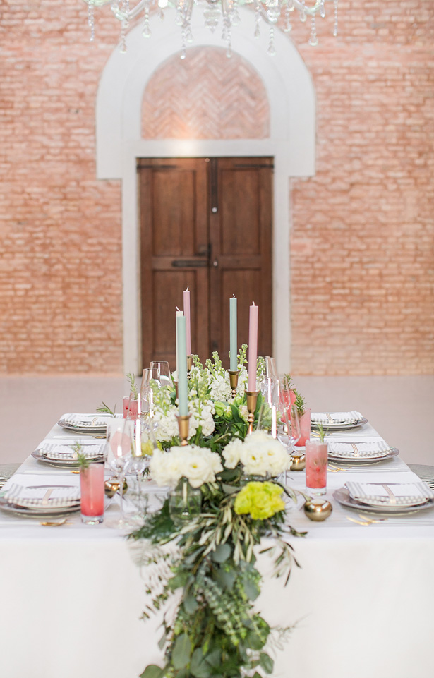 modern luxury wedding tablescape - Nora Photography