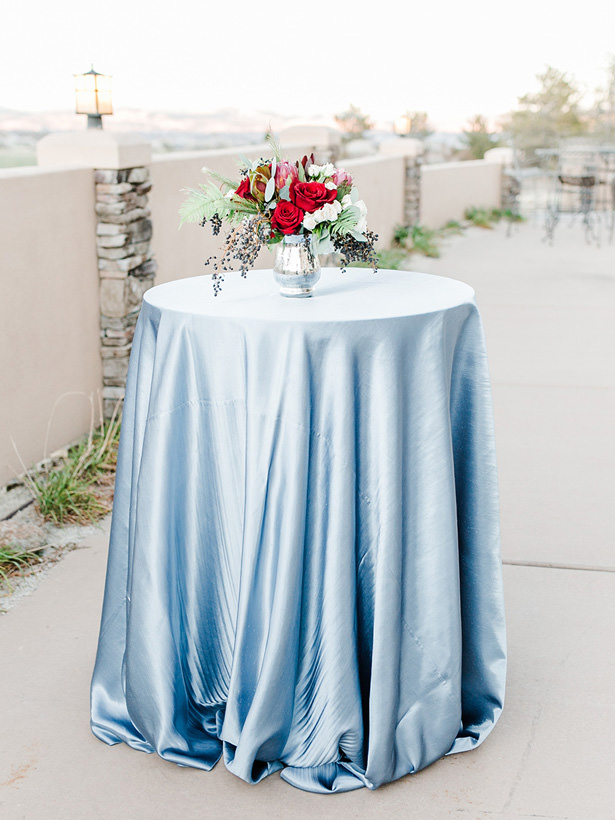 Blue Wedding Coctail Table - Mandy Ford Photography