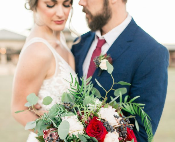 Rich Burgundy and Navy Mountain Wedding Inspiration