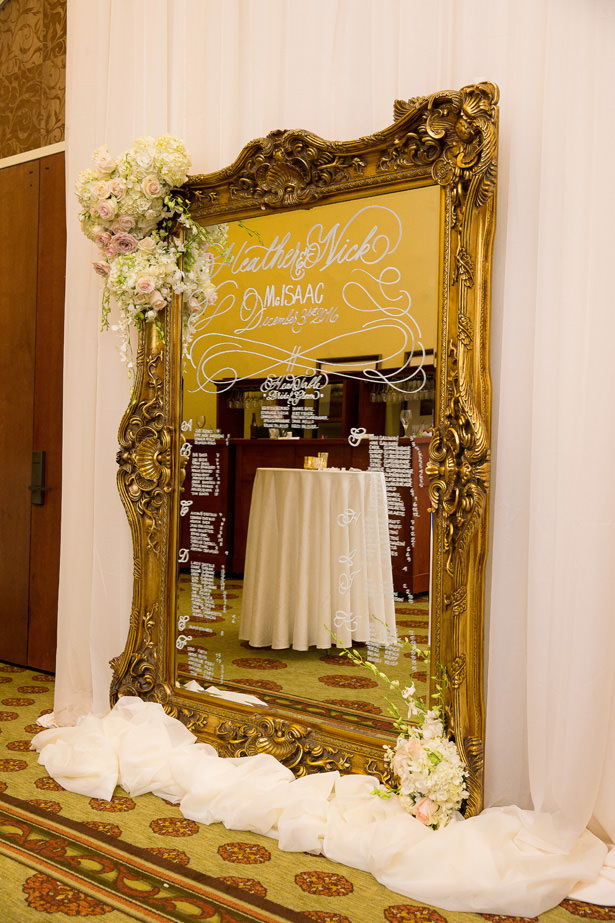Elegant seating chart mirror - Christopher Todd Studios