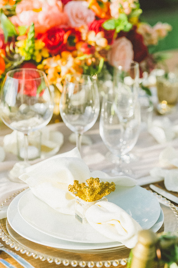 Glamorous Wedding Plate Setting- Angie Diaz Photography