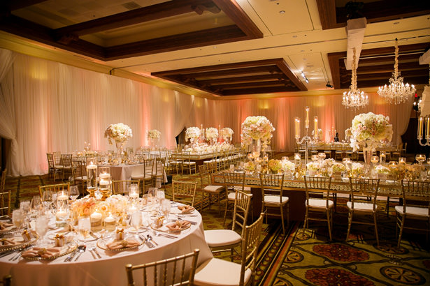 Gold Luxe Wedding Reception Decor - Christopher Todd Studios
