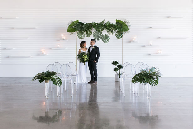 Minimalist Tropical Wedding Ceremony - J Wiley Photography