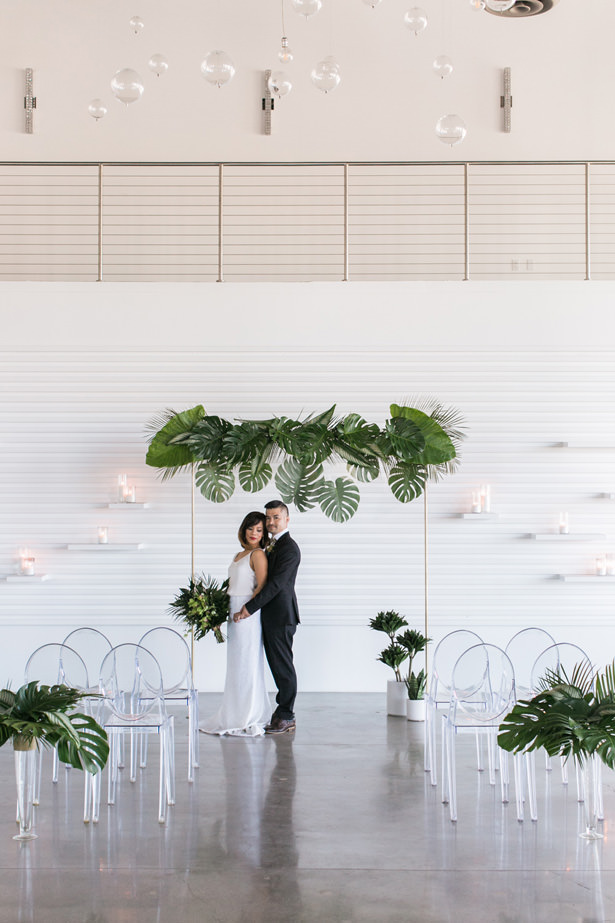 Tropical Minimalist Wedding Decor - J Wiley Photography