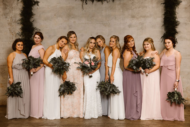 Mismatched Bridesmaid Dresses - T&K PHOTOGRAPHY