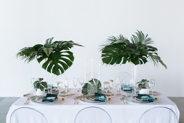 Modern Contemporary Wedding Tablescape - J Wiley Photography
