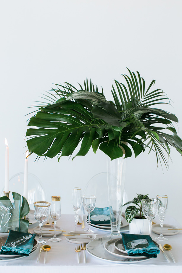 Modern Wedding Table Centerpiece - J Wiley Photography