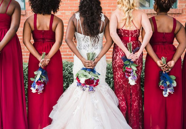 Navy + Burgundy Industrial Wedding
