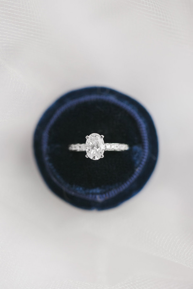 Oval Diamond Wedding Ring - Allison Nichole Photography