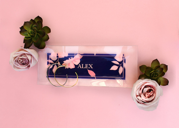 Personalized Glass tray - Bridesmaid Gifts from The Wedding Shop by Shutterfly