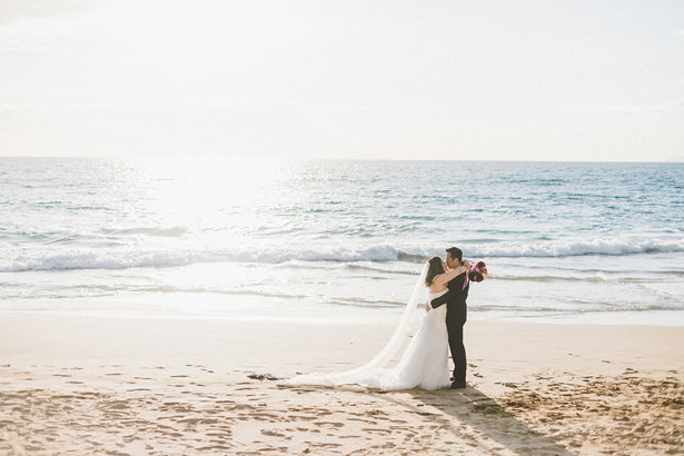 Romantic Beach Wedding Photo. Stunning Maui Elopement - Angie Diaz Photography