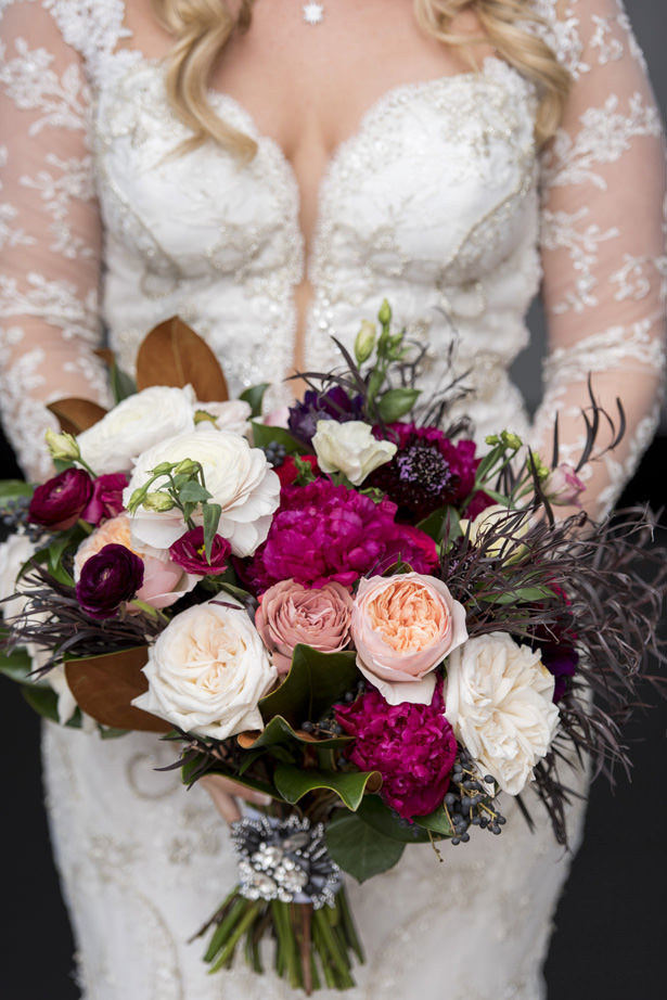 Berry Rose Wedding Bouquet - Photography: The Big Affair