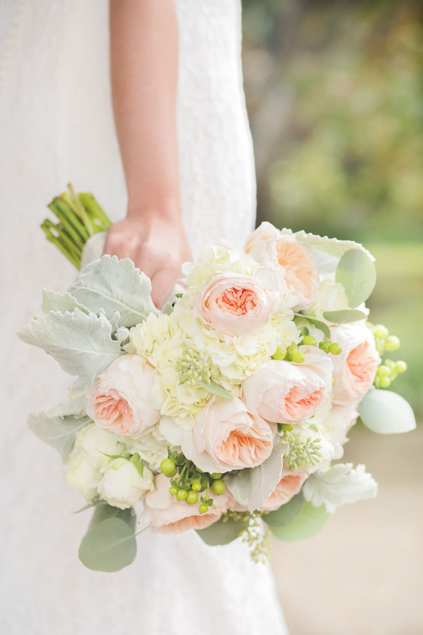 Sophisticated Peach Wedding Bouquet - Allison Nichole Photography