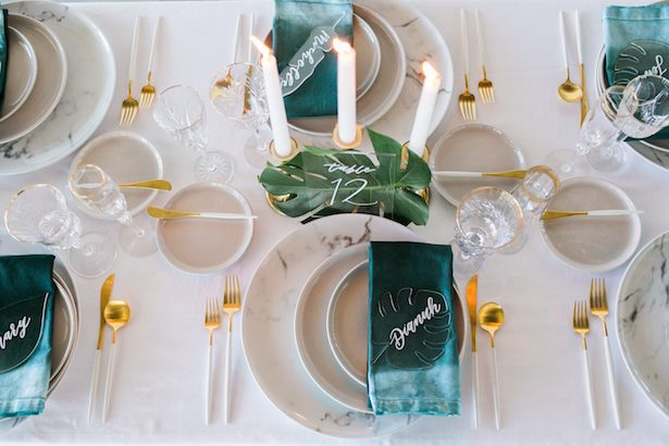 Teal Tropical Modern Tablscape Details - J Wiley Photography