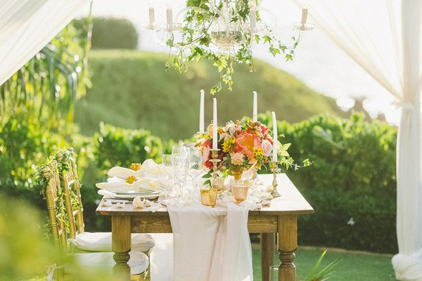 Tropical Glamorous Wedding Tablescape Tropical Wedding Bouquet- Angie Diaz Photography
