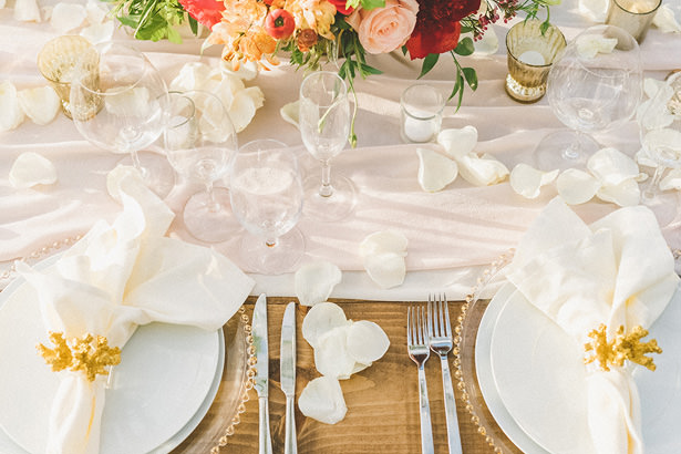 Tropical Wedding Table Decor - Angie Diaz Photography