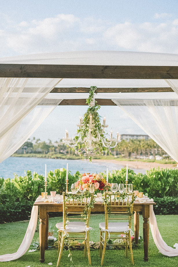 Tropical Wedding Tablescape - Angie Diaz Photography